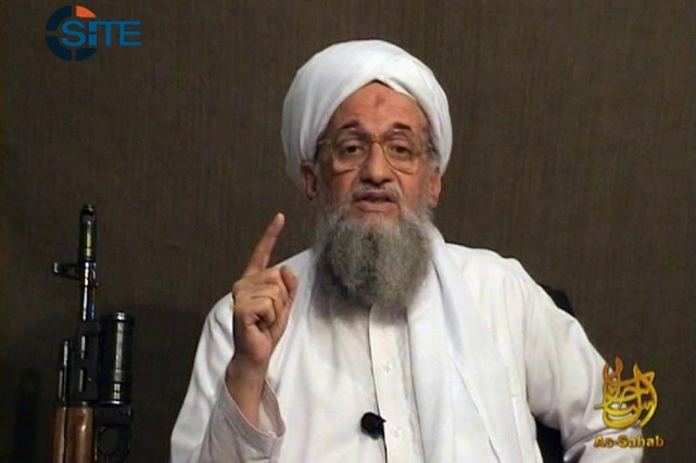 Le chef d'Al-Qaïda Ayman al-Zawahiri.... (PHOTO AFP/SITE)