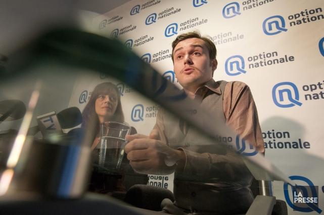 La chef intérimaire d'Option nationale, Nathaly Dufour, et... (PHOTO IVANOH DEMERS, ARCHIVES LA PRESSE)