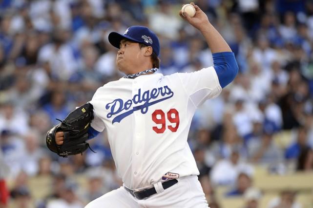 Ryu, troisième partant des Dodgers en 2013 et... (PHOTO REUTERS)