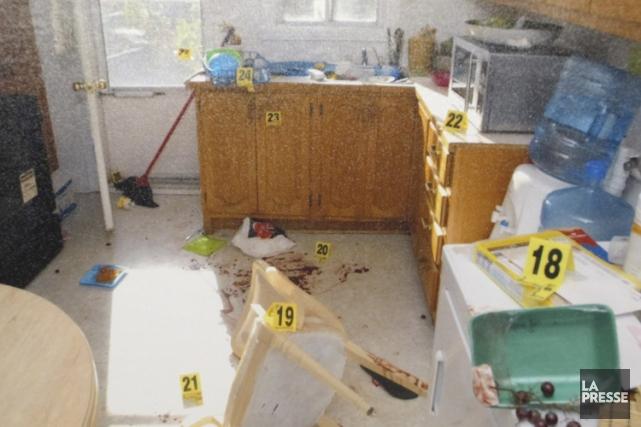 La victime a été assassinée dans sa cuisine.... (Archives La Presse)
