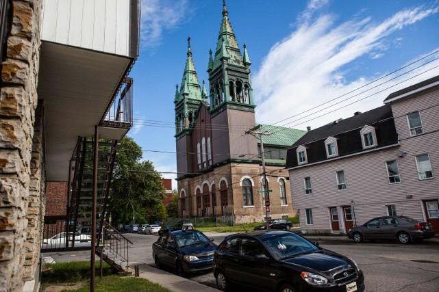 Le chantier de démolition de l'église Saint-Philippe pourrait... (Photo: Olivier Croteau)
