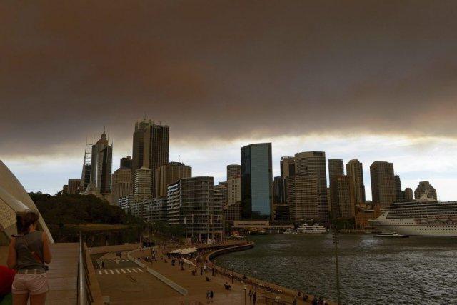 Sydney ce matin.... (Photo AFP)
