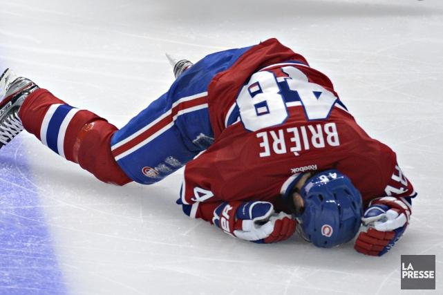 Daniel Brière s'est blessé samedi soir contre Nashville.... (Photo Bernard Brault, La Presse)