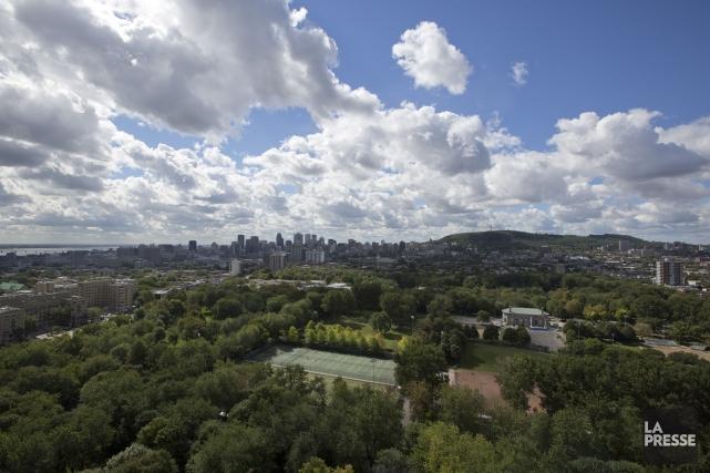 Vue de Montréal.... (Photo David Boily, La Presse)