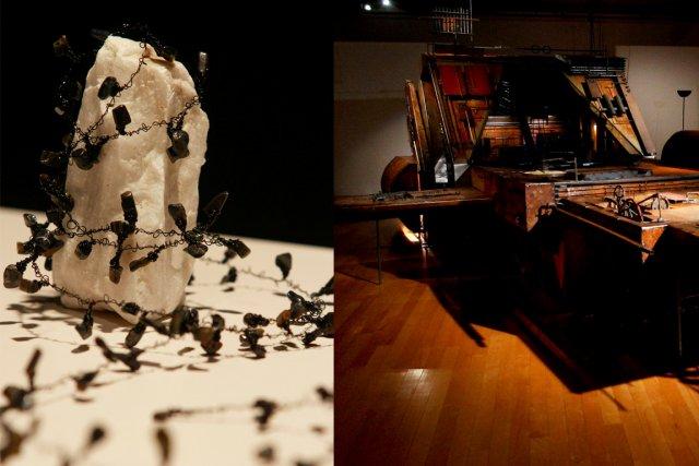 Les expositionsÉléments éphémèresetVoyage sans retouramènent le visiteur de... (PHOTOS PATRICK WOODBURY, LeDroit)