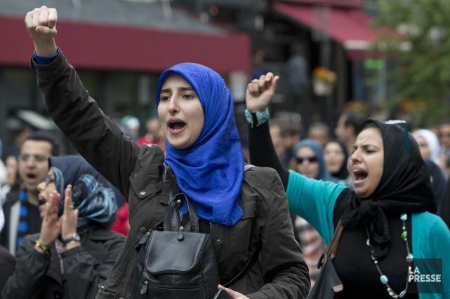 Manifestation dans les rues de Montréal le 14... (PHOTO ROBERT SKINNER, ARCHIVES LA PRESSE)