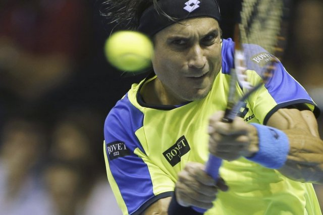 La série noire de David Ferrer continue.... (Photo Jose Jordan, AFP)