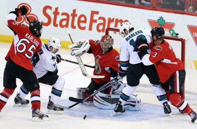 Les Sharks menaient 2-0 après six minutes de... (La Presse Canadienne)