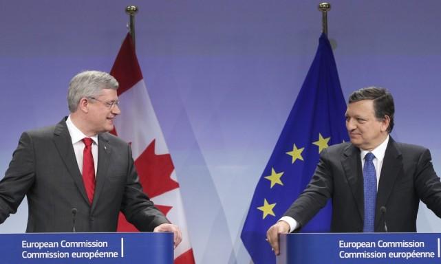 Le Canada et l'Union européenne (UE) n'ont pu parvenir cette semaine à signer... (Photo Yves Logghe, archives Associated Press)