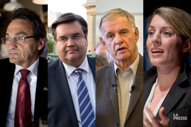 Les 4 candidats principaux de l'élection municipale à... (Photomontage Lapresse.ca)