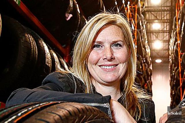 Charlyne Ratté, copropriétaire de l'entreprise familiale avec son... (Photothèque Le Soleil, Yan Doublet)