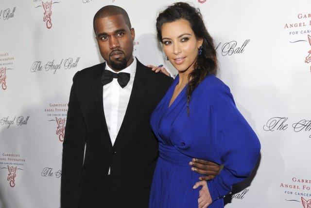 Kanye West et Kim Kardashian... (Photo: archives AP)