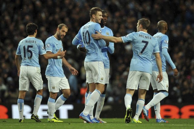 Le club de soccer Manchester City.... (Photo Paul Ellis, archives AFP)