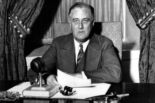 L'ancien président américain Franklin D. Roosevelt .... (Photo archives AP)