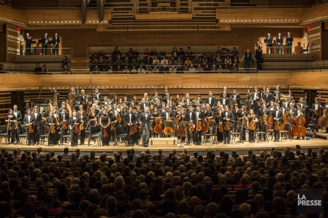 L'Orchestre symphonique de McGill faisait son entrée à... (Photo: Olivier Pontbriand, La Presse)