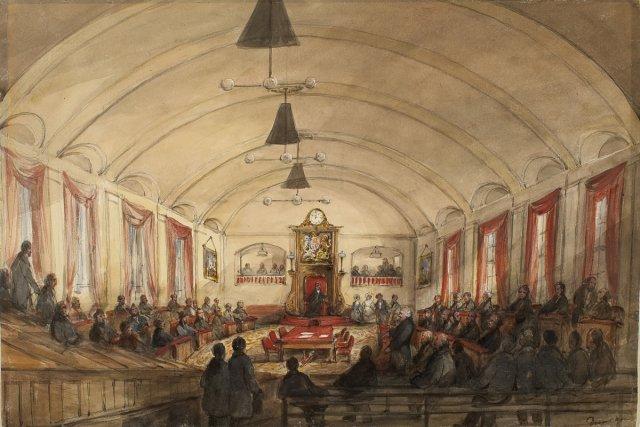 Voici à quoi ressemblait le parlement du Canada-Uni... (Photo: archives du Musée des beaux-arts du Canada)