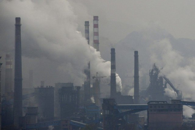 Pollution intense à Benxi, dans la province de... (Photo Reuters)