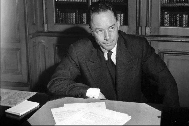 Albert Camus en octobre 1957.... (Photo: archives AFP)