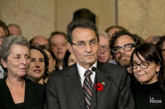 Richard Bergeron a annoncé qu'il quitterait le parti... (PHOTO DAVID BOILY, LA PRESSE)