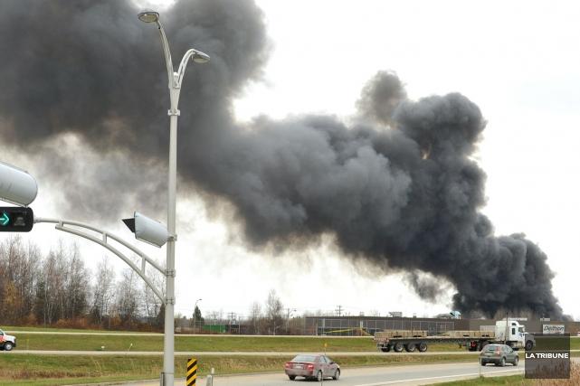 La tragédie du 8 novembre 2012, une explosion... (Archives La Tribune, Jessica Garneau)