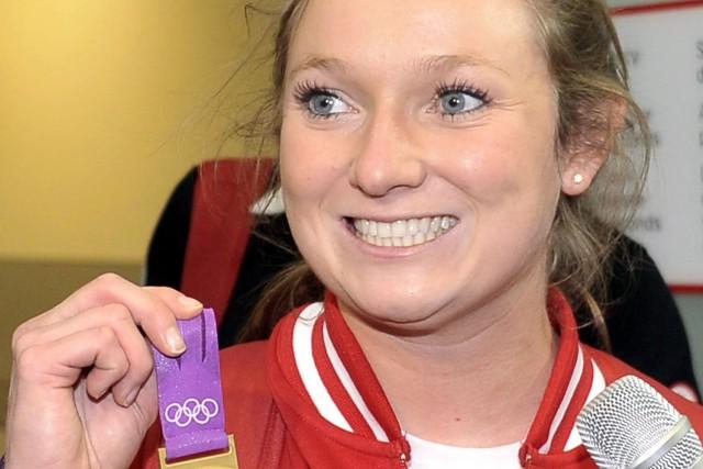 La championne olympique Rosie MacLennan.... (Photo J.P. MOCZULSKI, PC)