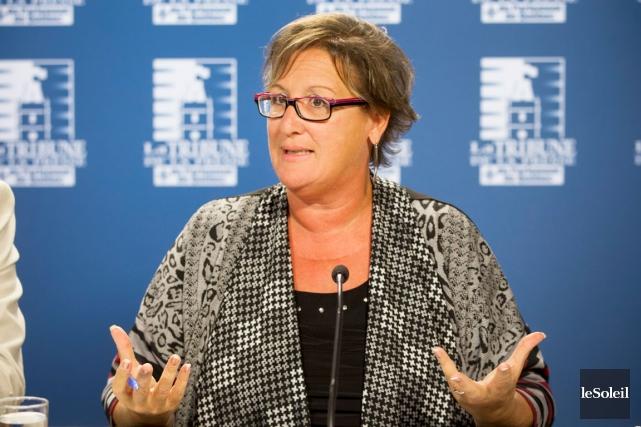 La présidente du Syndicat de la fonction publique... (Photothèque Le Soleil)