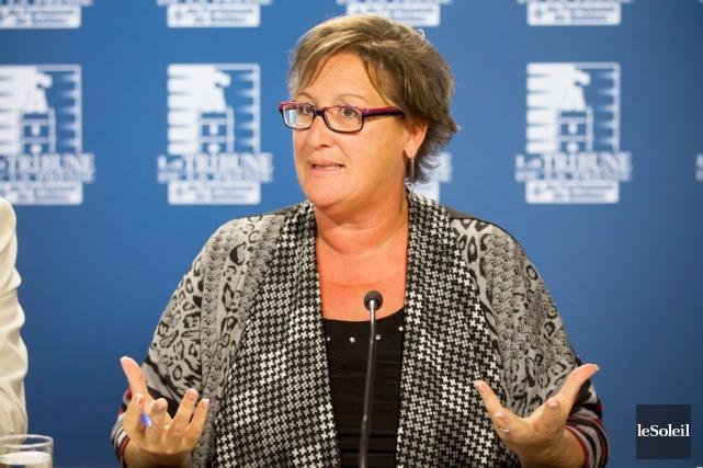 La présidente du Syndicat de la fonction publique... (Photo d'archives le Soleil)