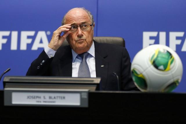 Le président de la FIFA, Sepp Blatter.... (Photo Arnd Wiegmann, Reuters)