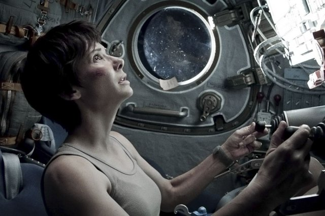 Gravity, avec Sandra Bullock et George Clooney.... (Photo: fournie par Warner Bros.)