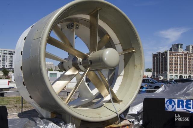 Une hydrolienne fonctionne comme une éolienne, mais elle... (Photo André Pichette, Archives La Presse)