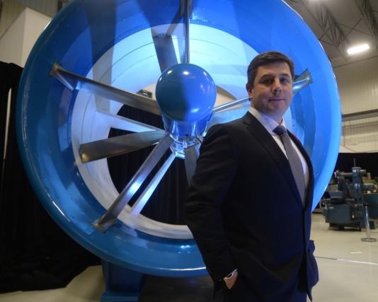 Le président-directeur général de RER Hydro, Imad Hamad,... (Photo: Sylvain Mayer)