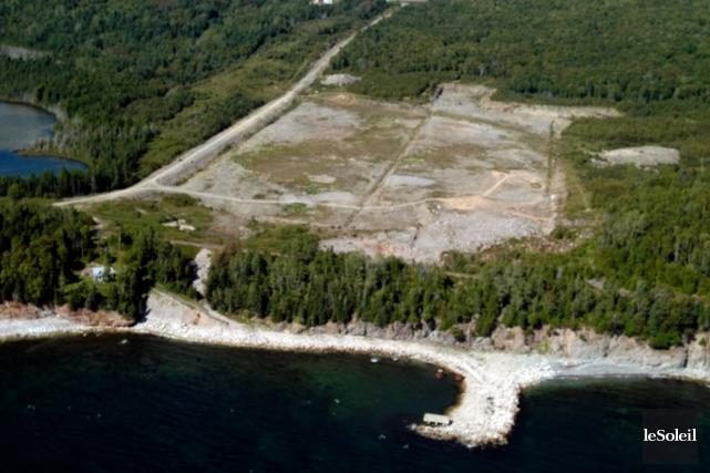 L'emplacement de la cimenterie à Port-Daniel... (Photothèque Le Soleil)