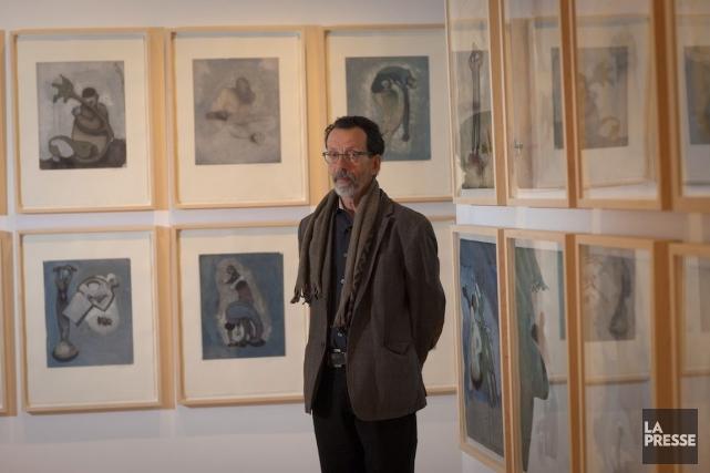 L'artiste Louis-Pierre Bougie expose ses oeuvres, et ce,... (Photo André Pichette, La Presse)
