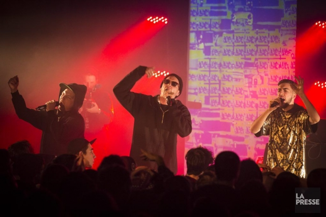 Le groupe rap Dead Obiesen spectacle au Cabaret... (PHOTO OLIVIER PONTBRIAND, LA PRESSE)