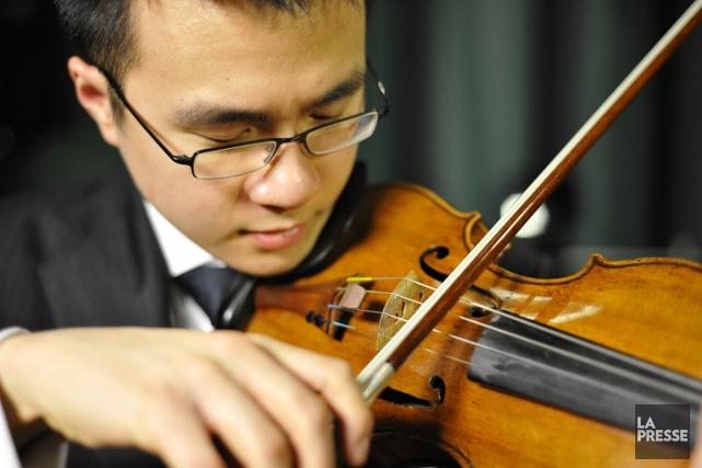 Andrew Wan, violon-solo de l'OSM... (Photo: archives La Presse)