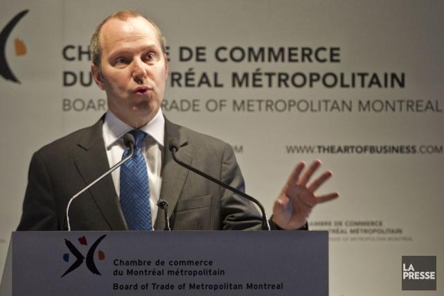 Michel Leblanc, président de la chambre de commerce... (Photo Hugo-Sébastien Aubert, Archives La Presse)