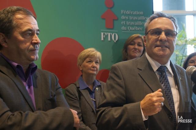 Daniel Boyer (à droite) et Serge Cadieux (à... (Photo Olivier Jean, La Presse)