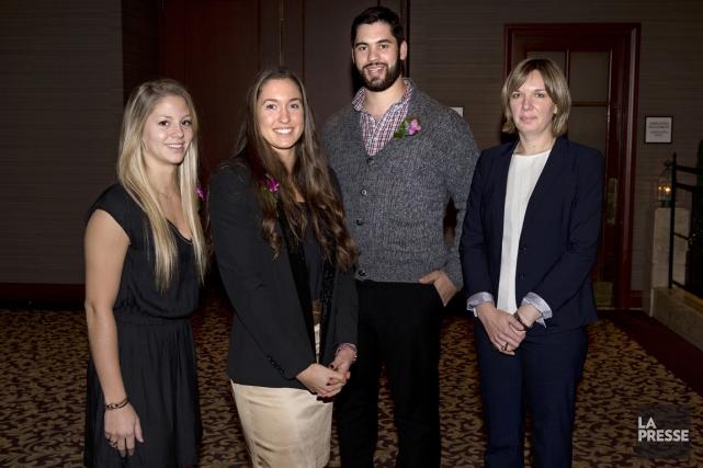 Quatre athlètes honorés, hier, au 28e Gala du... (Photo Robert Skinner, La Presse)