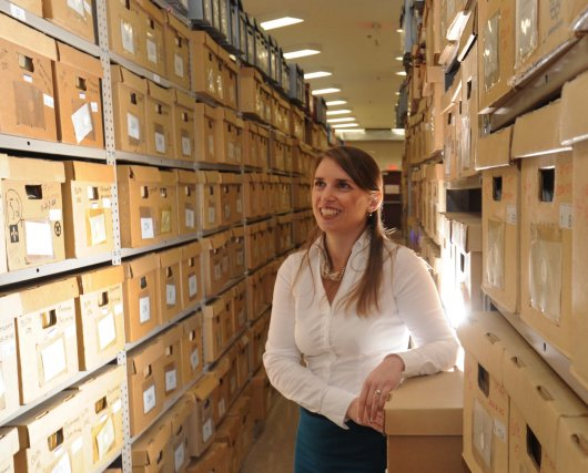 Sophie Morel, archiviste-coordonnatrice du centre d'archives de la... (Photo: Sylvain Mayer)