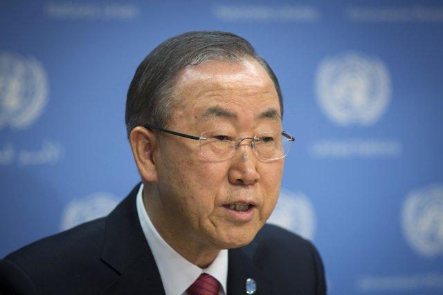 Ban Ki-moon... (Photo Lucas Jackson, Reuters)