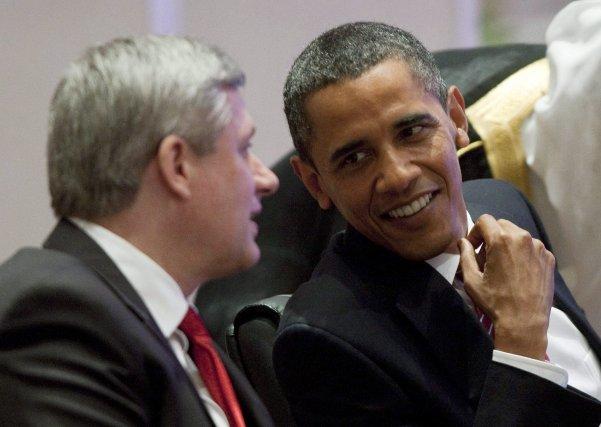 Comme en 2010, MM. Obama et Harper avaient... (Photo d'archives Adrian Wyld, PC)