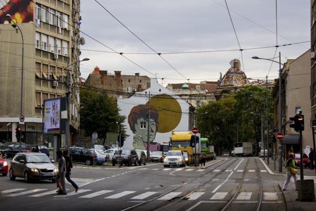 La murale En attendant le soleil peinte en... (Photo Audrey Bourget, collaboration spéciale)