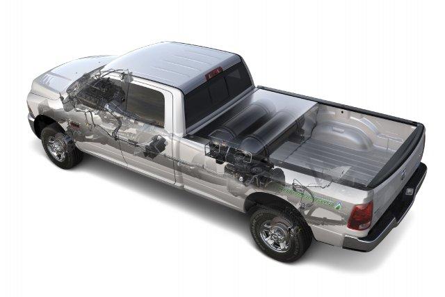 Ce Ram 2500 au gaz naturel profiterait bien... (Photo fournie par Chrysler)