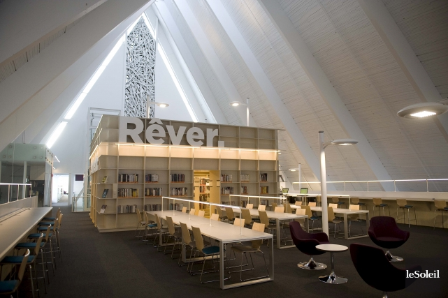 Depuis son inauguration, le 30 novembre, la bibliothèque... (Photothèque Le Soleil, Steve Deschênes)