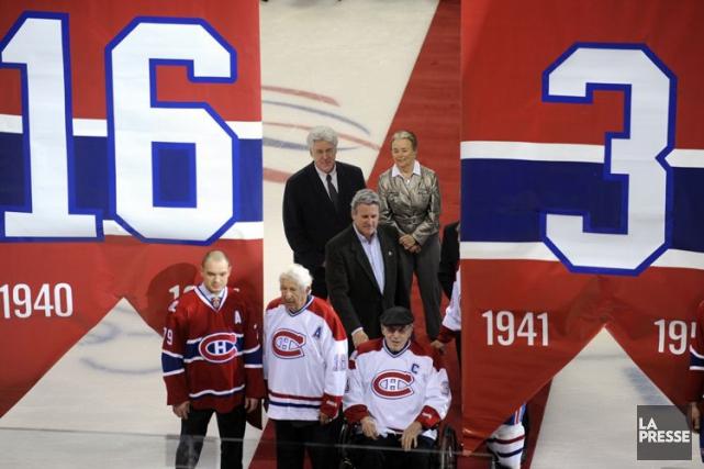 Le Canadien a retiré les chandails numéros 16... (ARCHIVES, La Presse)