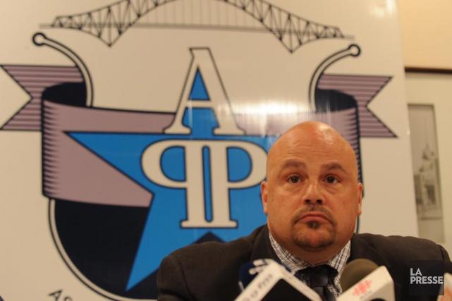 Le président de la Fraternité des policiers et... (Photo: Archives, Sylvain Mayer)