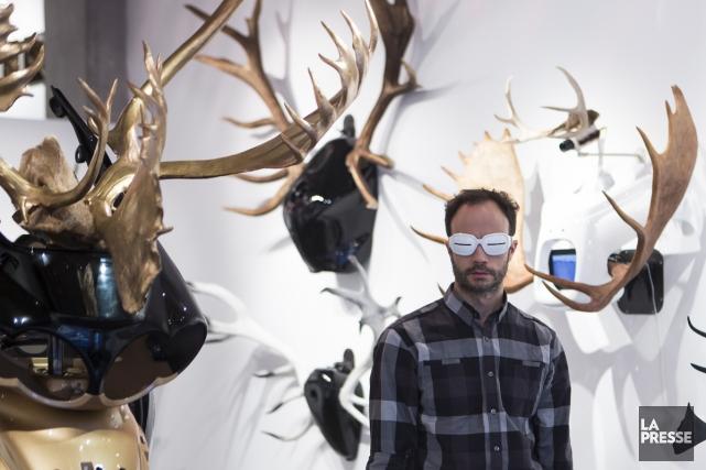 Simon Beaudry a récemment gagné la bourse de la Foire d'art contemporain de... (Photo: Olivier Pontbriand, La Presse)