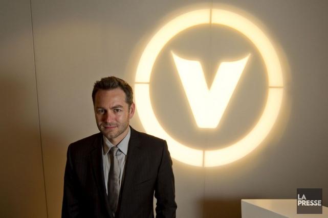 Le président de Groupe V MédiasMaxime Rémillard et... (Photo Hugo-Sébastien Aubert, Archives La Presse)