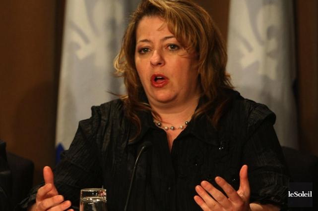 La députée de la Coalition avenir Québec Sylvie... (Photothèque Le Soleil)