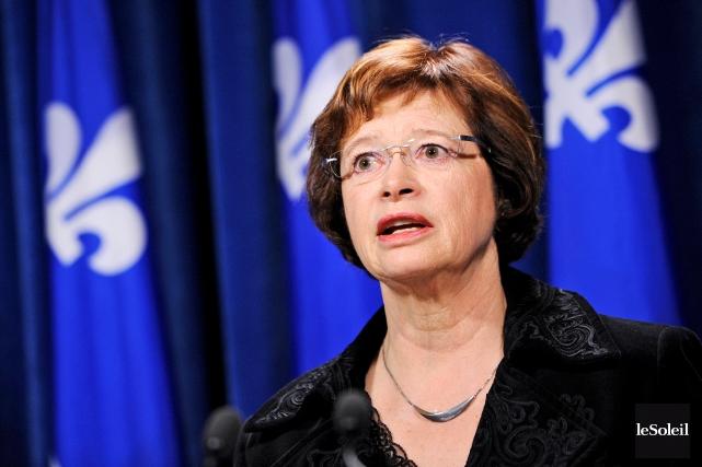 La ministre de l'Éducation, Marie Malavoy, trouve anormal... (Photothèque Le Soleil, Patrice Laroche)